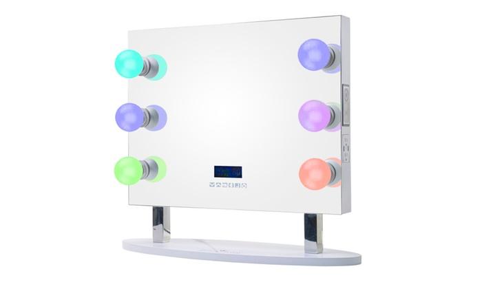 ReignCharm 6-Smart LED Light Bulbs Hollywood Vanity Mirror
