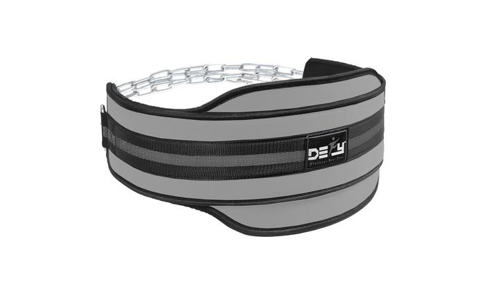 DEFY Weight Lifting Neoprene Dipping Belt Exercise Fitness Body Building Black