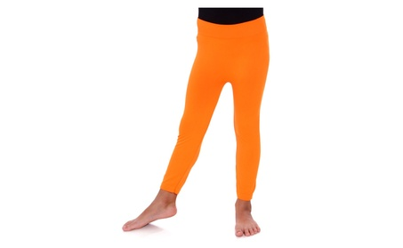 Little Girl's Stretchy Seamless Ankle Length Leggings db6f545a-9fca-4c7a-baaa-638e64175f85