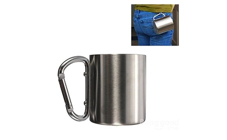 220ml Portable Stainless Steel Double Wall Camping Mug 5a6506cc-00c6-448d-acb7-c6b42a4d5069