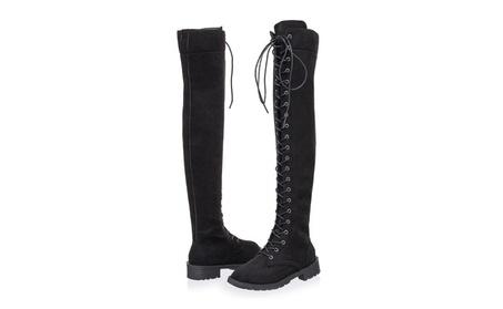 Women's Fashion Comfy Vegan Suede Over the Knee Boots f2211ec7-e26e-4d0d-97f8-b31717af6b6b