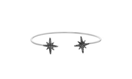 Sterling Silver Marcasite Star Cuff Bangle 04e056d5-d55d-4942-873c-239dea6194ff