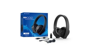 Sony PlayStation 4 Gold Wireless Headset with 7.1 Surround Sound