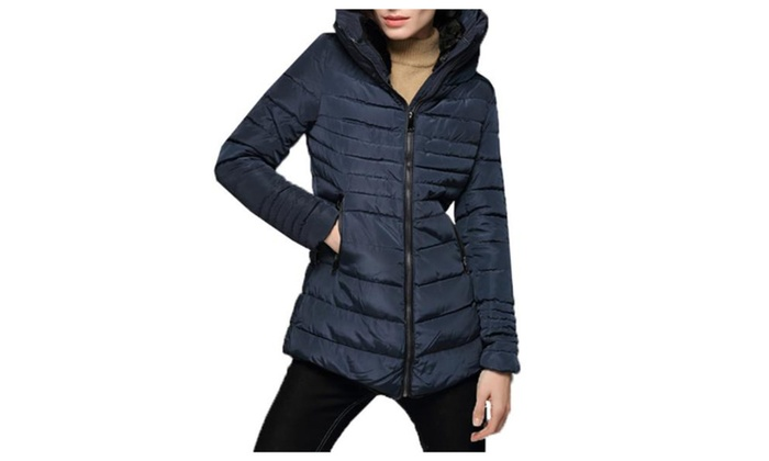 Women's Long Sleeve Stitched Casual Insulation Cotton Coats