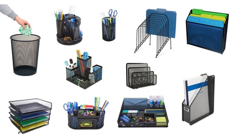 Office Desk Mesh Organizers. Multiple Options Available.