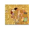 Gustav Klimt 'Fulfilment' Canvas Art