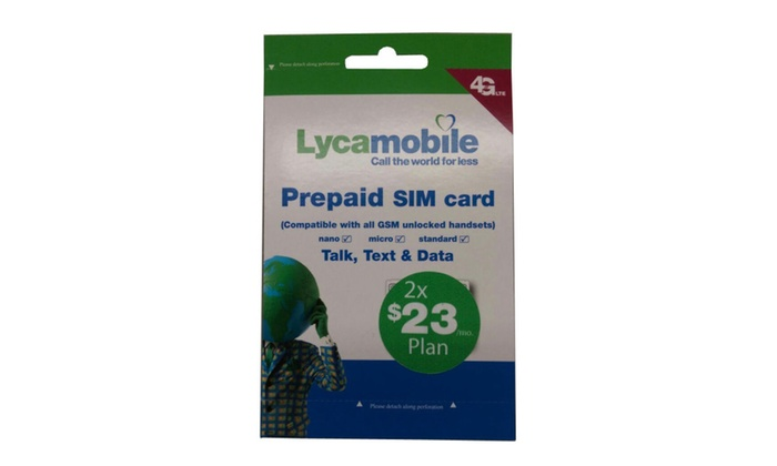 Preloaded Lycamobile Triple Punch Sim Card $23 $29 $39 2/3