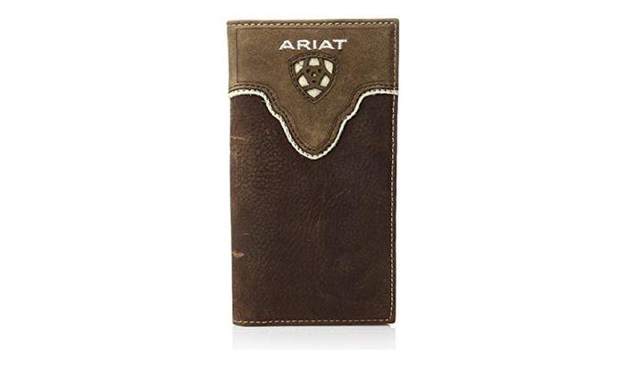 8f45de16b0e5 Ariat A3531244 Distressed Shield Inlay Rodeo Western Wallet, Medium