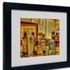 Lois Bryan 'Vintage Medicines' Matted Black Framed Art