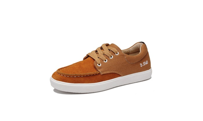 Mens Splice Casual Boat Shoes
