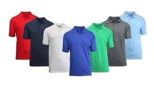 Men's Pique Polo Shirts. Extended Sizes Available.