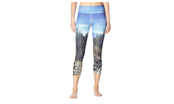 Women's Printed Graphic Pull On Style Fitness Clothing Pants