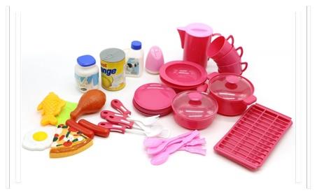 Food Playset Plastic 40PCS Pretend Play Toy Set Kids Toddler Cooking cc2f1c28-ff67-423e-a56f-3909868cdb86