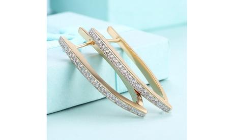 Thin Lined Diamond Accent Clip On Earrings 82882c40-578c-44da-8a8f-2917073255c9