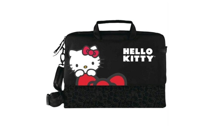 1f76af10e Hello Kitty Kt4335B Hello Kitty Notebook Bag - Black | Groupon
