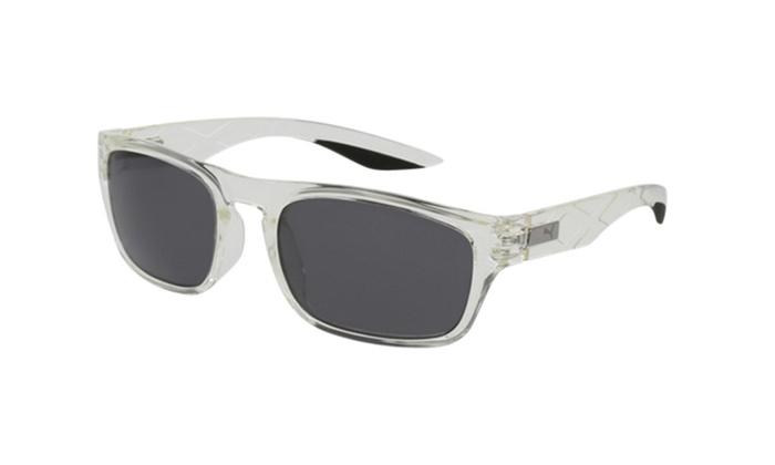 2d12b892f0 PUMA PU0059S 004 Crystal Frame   Grey Polarized Lenses