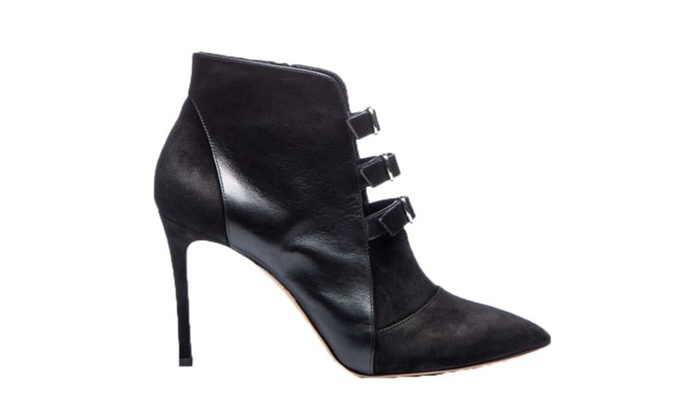 Women's New Fashion 3 Buckles Stiletto Heel Single Sole Pointed Toe Ankle Booties