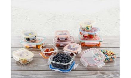 Wexley Home Glass Food Storage Set (16- or 24-Piece)