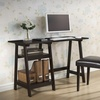 Mott Dark Brown Wood Modern Desk with Sawhorse Legs (Small)