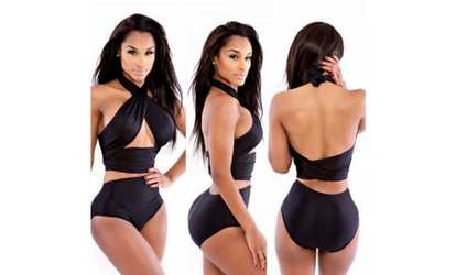 d653a42a71685 Shop Groupon Women s High Waist Support Bikini Set Swimsuit