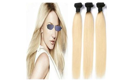 Blonde 1b 613 Ombre Human Hair Extensions Dark Roots 2 Tone (2-3pack) fdc204b5-8ed1-4d54-a53e-2b4865b63f9c