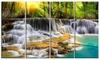 Kanchanaburi Province Waterfall - Photography Metal Wall Art