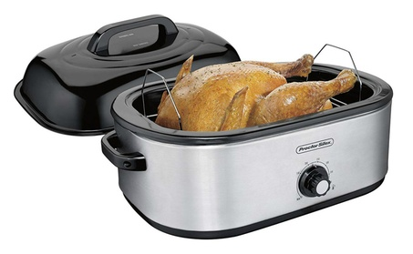 Proctor Silex 32191 Stainless Steel Roaster Oven w/Removable Pan,18 Qt photo