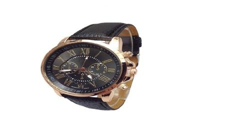 Luxury Fashion Faux Leather Blue Ray Glass Quartz Watches b0fc468b-08be-4129-a5e6-ab4e7dd19ee3