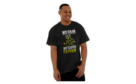 No Pain No Super Saiyan Dragon Z Goku Ball Gym Workout T Shirt Tee
