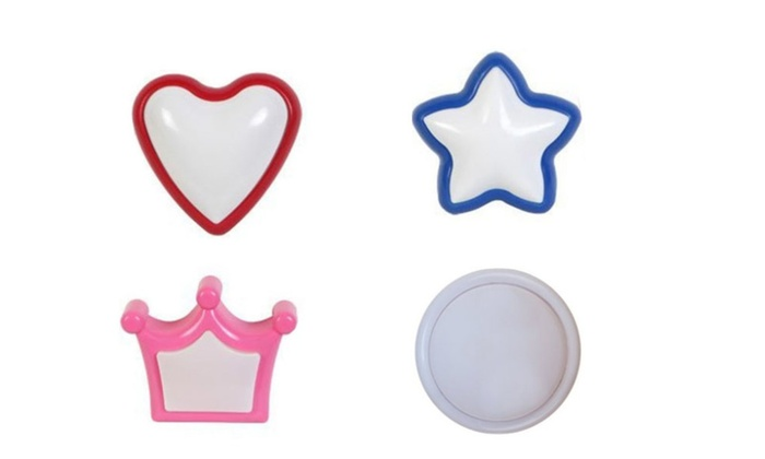 manZR: Great For kids' Room Self-Adhesive Push Light Red Heart Star