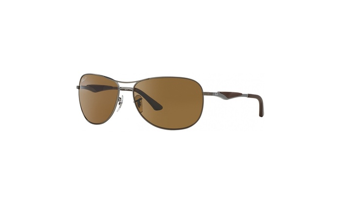 fb10f2718b3 Ray-Ban RB3519 Polarized Sunglasses - Gunmetal Gray Brown Lens