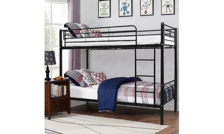 Bedroom Dorm Furniture Metal Over Bunk Bed Frame Ladder( 3Colors)