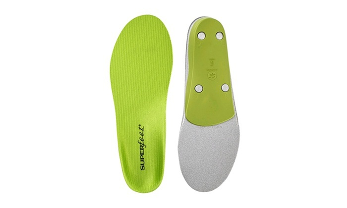 SUPERFEET GREEN INSOLES ORTHOTIC ARCH SUPPORT SIZE H
