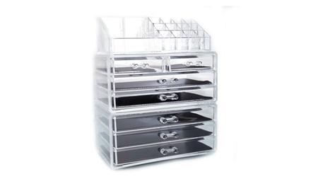 Acrylic Cosmetic Organizer Makeup Case Holder Drawers Jewelry Storage