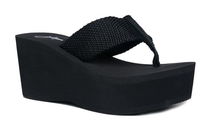 High Platform Foam Sandal - Trendy Wedge Flip Flop - Comfortable Every