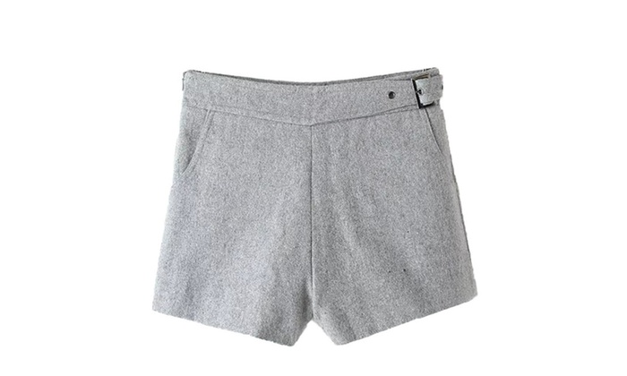 Women's Solid Hot Pant Cotton Blend Casual Shorts