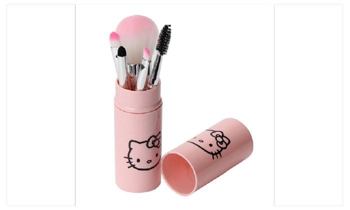 0e926b79f Hello Kitty Makeup Brush Tube Set (5 pcs)