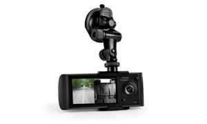Dual Camera Dash Cam System, DVR Driving HD 1080p Camera W/ Google Maps GPS