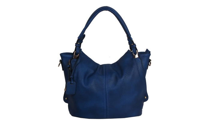 'Carly' Shoulder Bag in Blue