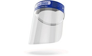 5-Count Fluid-Resistance Face Shield with Soft Band