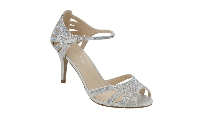 Beston IC43 Women's Glitter Metallic Strappy Stiletto Heel Sandals
