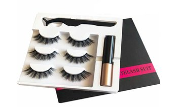 Magnetic Eyeliner and Reusable Lashes With Kit (3-Pairs)