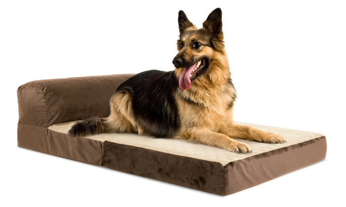 Precious Tails Bolstered Fold Out Chaise Dog Bed Groupon