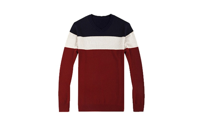 Men's European Style Stylish Slim Fit Solid Pullovers