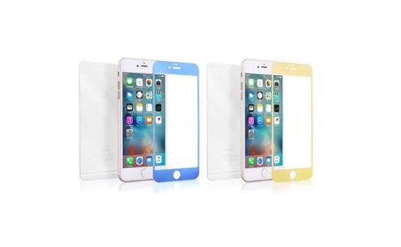 iPhone / Front Back Color Shiny Mirror Tempered Glass Screen Protector fce20528-2bd4-4166-9dbd-8319ec729c46