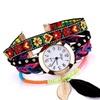 Feather PU Leather Casual Quartz Women Wrist Watch