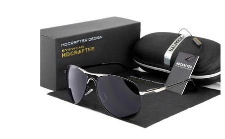 HD Designer Polarized Sunglasses For Men - Black 444a67dd-ecdb-4c19-9fa2-3b60ac374f60
