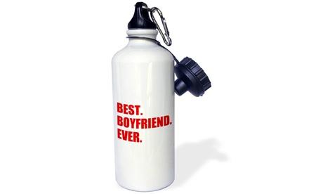 Water Bottle Red Best Boyfriend Ever text anniversary valentines day gift