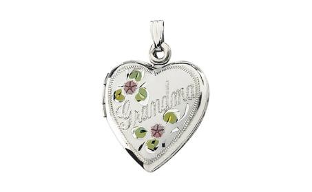 Sterling Silver Grandma Heart Shape Locket a2a0ab94-96d9-4a47-aeb7-f3bdb0ba65e0