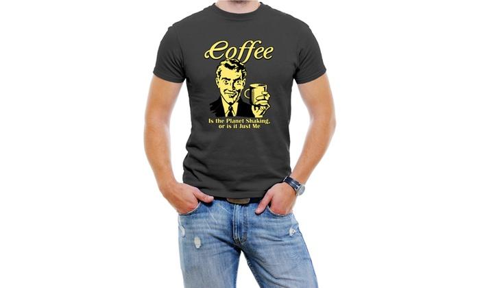 Funny Coffee Men T-Shirt Soft Cotton Short Sleeve Tee